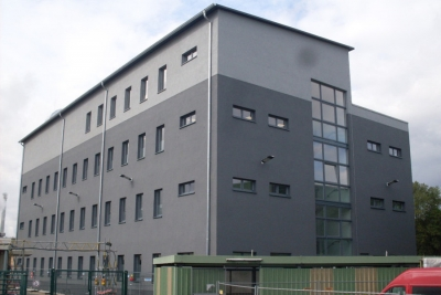 Kraftwerksanlagen der Briketfabrik Frechen Neubau Waschkaue